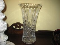 LARGE LEADED GLASS VASE~7.5 POUNDS! in Naperville, Illinois